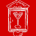 In Case Of Emergency - Drink Martini - Red by Wingsdomain Art and Photography