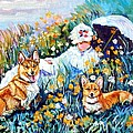 In The Field With Corgis After Monet by Lyn Cook