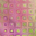In The Pink With Squarish Squares  by Debbie Portwood