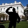 In The Rose Garden President Obama by Everett