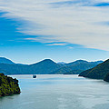 Incoming Ferry Through A Fjord  by U Schade