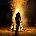 Indian Ceremonial Bonfire by Ralph Brannan
