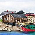 Indian Harbour Peggys Cove  Nova Scotia by Arlene  Wright-Correll