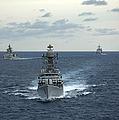 Indian Navy Corvette Ship Ins Kulish by Stocktrek Images