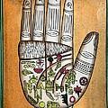 Indian Palmistry Map by Victor De Schwanberg