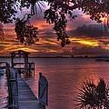Indian River Sunset by Lisa Goddard