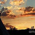 Indian Sunset by Bernard MICHEL