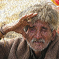 Indian Tribal Man by Maurizio Bersanelli