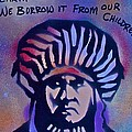 Indigenous Motto...blue by Tony B Conscious