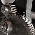Industrial Gears Whith Oil Drops by Juan Carlos Ferro Duque