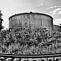 Industrial Tank In Black And White by Tammy Wetzel