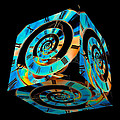 Infinity Time Cube On Black by Steve Purnell