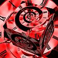 Infinity Time Cube Red by Steve Purnell