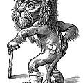 Injured Lion, Conceptual Artwork by Bill Sanderson