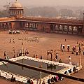 Inside Jama Masjid In The Huge Courtyard by Ashish Agarwal