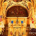 Inside St Louis Cathedral Jackson Square French Quarter New Orleans Film Grain Digital Art by Shawn O'Brien