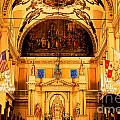 Inside St Louis Cathedral Jackson Square French Quarter New Orleans Ink Outlines Digital Art by Shawn O'Brien