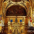 Inside St Louis Cathedral Jackson Square French Quarter New Orleans Poster Edges Digital Art by Shawn O'Brien