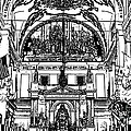 Inside St Louis Cathedral Jackson Square French Quarter New Orleans Stamp Digital Art by Shawn O'Brien