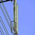 Insulators On An Electricity Pylon by Paul Rapson