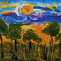 Intense Sky And Landscape by Mary Carol Williams