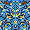 Interconnection In Blue Design by Nancy Mueller