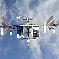 International Space Station Backdropped by Stocktrek Images