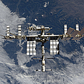 International Space Station Backgropped by Stocktrek Images