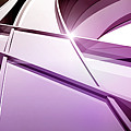Intersecting Three-dimensional Lines In Purple by Ralf Hiemisch