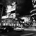 Intersection Of Yonge And Dundas At Night Yonge-dundas Square Toronto Ontario Canada by Joe Fox