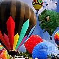 Into The Great Blue Sky - Hot Air Balloon Ride - Hot Air Balloons - Warren County Fair by Lee Dos Santos