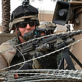 Iraqi And U.s. Soldiers Patrol The Al by Stocktrek Images