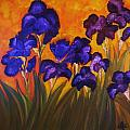 Irises In Motion by Yesi Casanova
