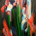 Irises by Les Leffingwell