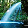 Iron Creek Falls From The Side  by Jeff Swan