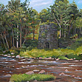 Iron Furnace Of Franconia New Hampshire by Nancy Griswold
