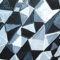 Irregular Triangle Pattern In Black And White by Kazuya Akimoto
