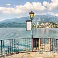 Island San Giulio On Lake Orta by Mats Silvan