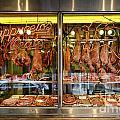 Italian Market Butcher Shop by John Greim