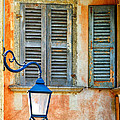 Italian Street Lamp With Window And Decorated Wall by Silvia Ganora