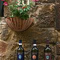Italian Wine And Flowers by Sally Weigand