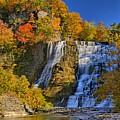 Ithaca Falls In Autumn by Matt Champlin