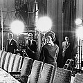Jacqueline Kennedy And Television Crew by Everett