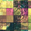 Jaguar Geo Pink And Green by Mayhem Mediums