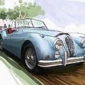 Jaguar X K 140 by RG McMahon