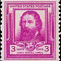 James Russell Lowell Postage Stamp by James Hill