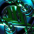 Jammer Blue Green Flux 001 by First Star Art
