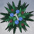 Jammer Blue Red Snow Wreath by First Star Art