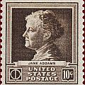 Jane Addams Postage Stamp by James Hill