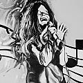 Janis In Black And White by Rob Hans